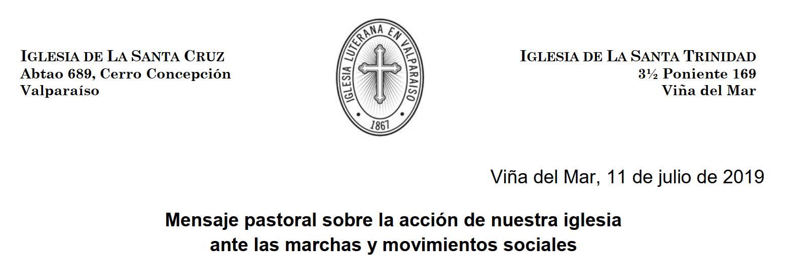 Mensaje Pastoral ILV 2019